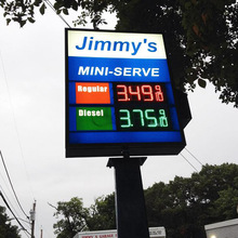 Gas Price Sign Censtar