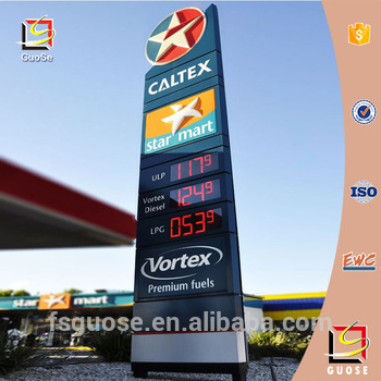 LED Gas price displays TJG Digital Signs